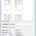 Screenshot: Import from PDF
