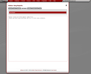 Image: Error: Could not find report index file. Check and save sarg settings and try to force sarg schedule.