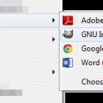 Screenshot: Open With GIMP